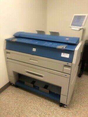 Kip 3100 Wide Format Plotter Printer Scanner Low Meter Good Test Print