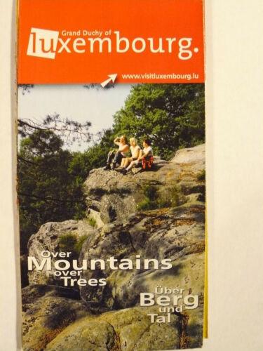 """Luxembourg """"Über Berg und Tal"""" Landkarte"""