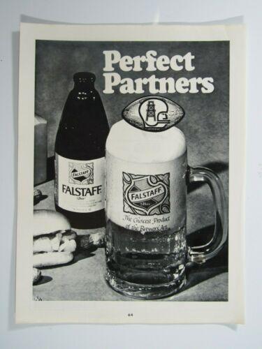 "Houston Oilers & Falstaff Perfect Partners 1971 Original Print Ad-8.5 x 11."""