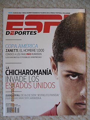 Espn Deportes La Revista Julio 2011   Copa America Zanetti  El Hombre 1 000