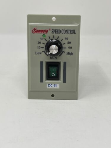 Samgold AC 110V Phase Motor Speed Controller Adjustable Unit Variable For DC-51
