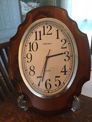 Verichron Quartz Wood Frame Wall Clock