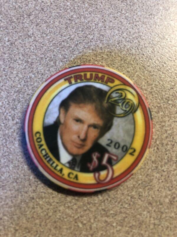 $5 donald trump 2002 29 palms coachella california  casino chip super rare