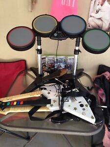 Rockband and guitar hero for Xbox 360