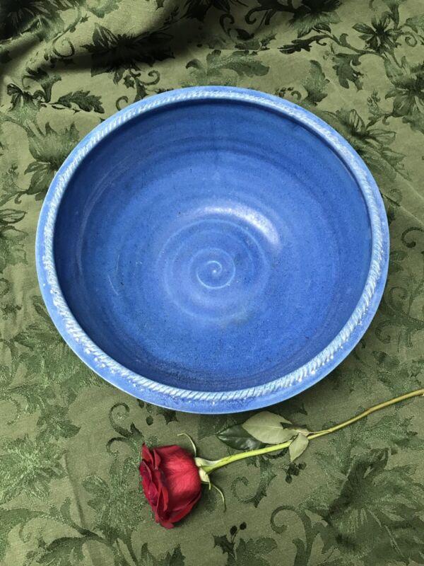 Large Blue Bowl Hand Thrown
