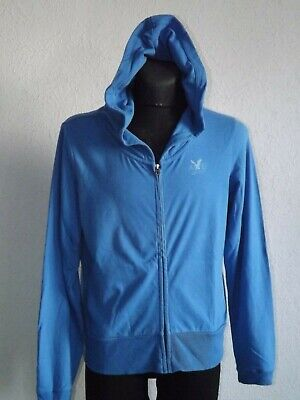American Eagle Outfitters mens cotton blue summer sweatshirt with hoody size XL, used for sale  Shipping to Nigeria