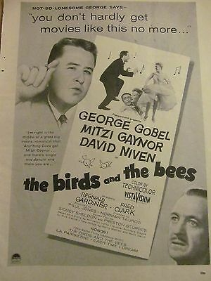 The Birds and the Bees, Mitzi Gaynor, George Gobel, Full Page Promotional Ad