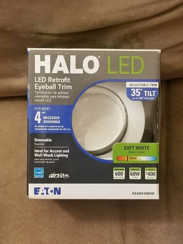 Halo 4 in. 3000K Matte White Recessed LED Adjustable Gimbal