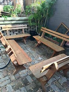 Millwood Outdoor benches- handcrafted Australian Cypress Balmain Leichhardt Area Preview