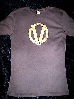 Usher Size M Woman Concert T Shirt VIP Women Brown with Gold embellished
