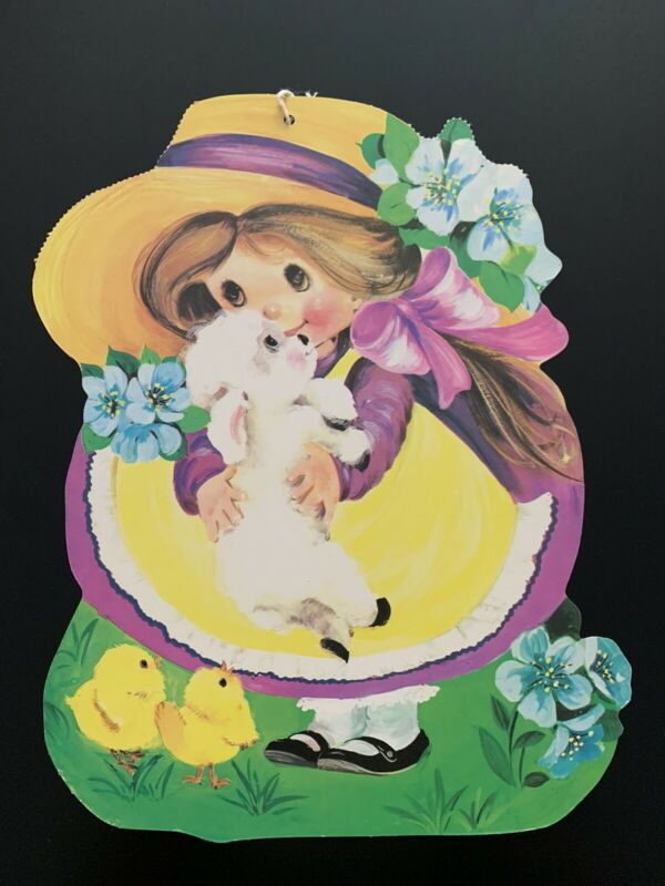 Vintage Double-Sided Easter Decoration by Eureka