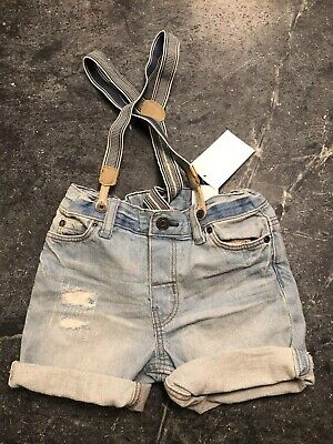 H&M Baby Boy Shorts with Suspenders, Trendy, Fashion, 1 1/2-2yr NWT - Trendy Suspenders