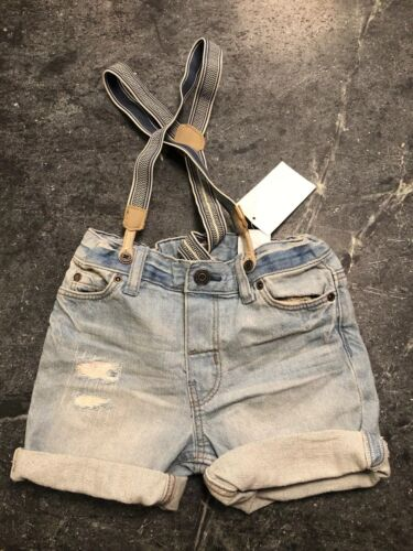 H&M Baby Boy Shorts with Suspenders, Trendy, Fashion, 1 1/2-