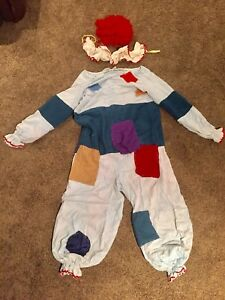 Scary crazy Halloween adult clown costume