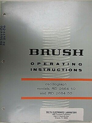 Brush Oscillograph Models Rd 2664 50 And Rd 2684 50 Operating Instructions
