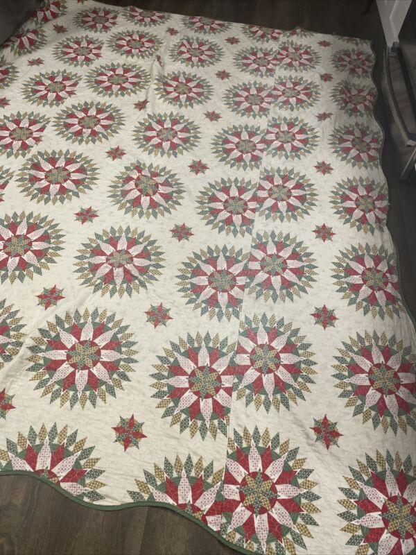"""Large 80'x99"""" Vintage Quilt Lightweight Estate Sale Find Hand Made?"""