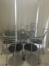 Table and chairs Cecil Hills Liverpool Area Preview