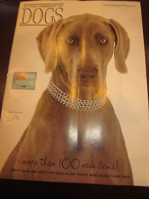 IN THE COMPANY OF DOGS 2015 CATALOG GIFTS FOR DOGS PUNCH A WEIMARANER BRAND NEW