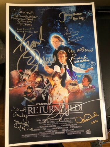 STAR WARS RETURN OF THE JEDI SIGNED PHOTO 12X18 AUTOGRAPH HARRISON FORD BAS COA