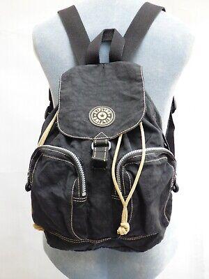 Kipling Black Backpack Rucksack Medium Firefly N with Monkey Charm Casual