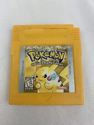 AUTHENTIC Pokemon Yellow Special Pikachu Edition Nintendo Game Boy DOESN'T SAVE