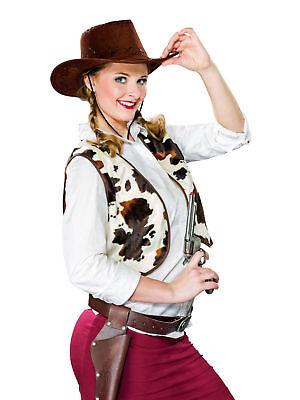 Cowboy Weste für Damen Buffalo Kostüm Western