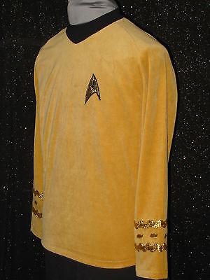 CUSTOM-MADE Gold Five Star TREK CLOTHES Uniform COSTUME Men's - Costume Star Trek
