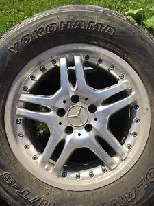 Rims avec pneus 275/55/17 Mercedes
