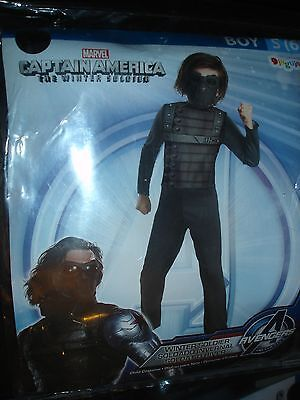 Captain America Winter Soldier Halloween Costume boys S 6 small Disguise (Captain America Costumes For Boys)