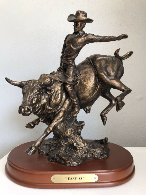 "Montana Lifestyles Silversmiths ""EASY 88""Statue # A1142 Figure RARE"