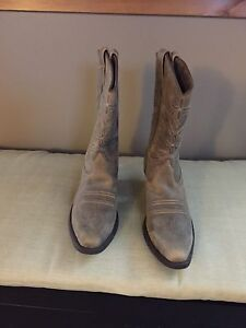 Women's leather cowgirl boots