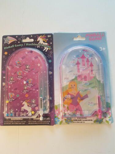 Princess and rainbow diamonds handheld pinball games 6 x 4 set of two new