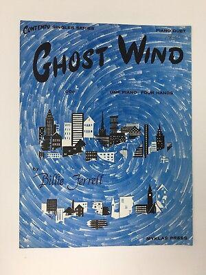 Ghost Wind by Billie Ferrell Sheet Music Halloween 1973