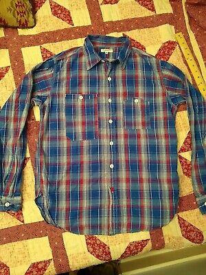 Engineered Garments blue plaid work shirt Medium