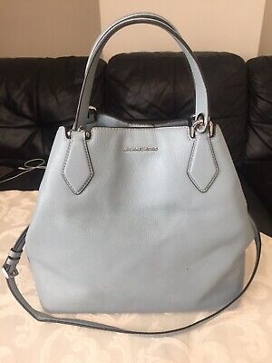Michael Kors large grab bag / cross body, real leather in pale blue, RRP $398