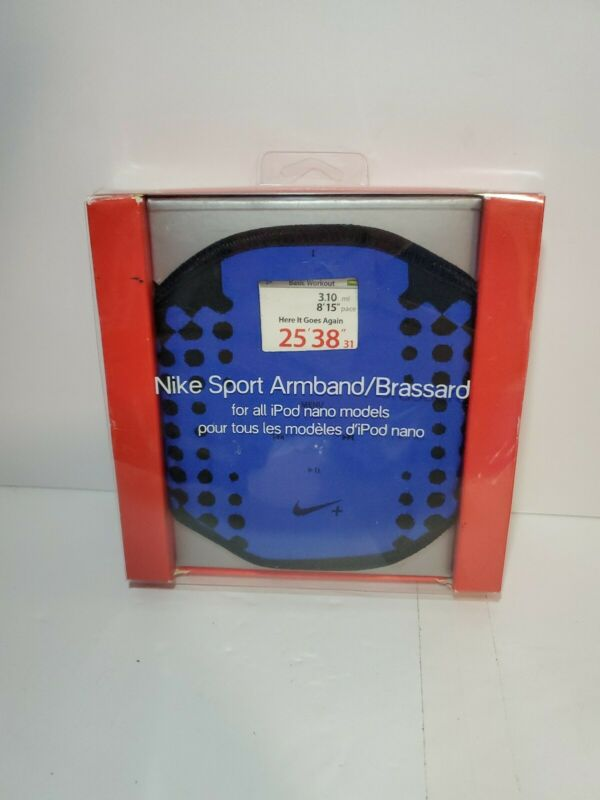 Nike Sport Armband Brassard For ALL Apple iPod Nano Models Blue Black