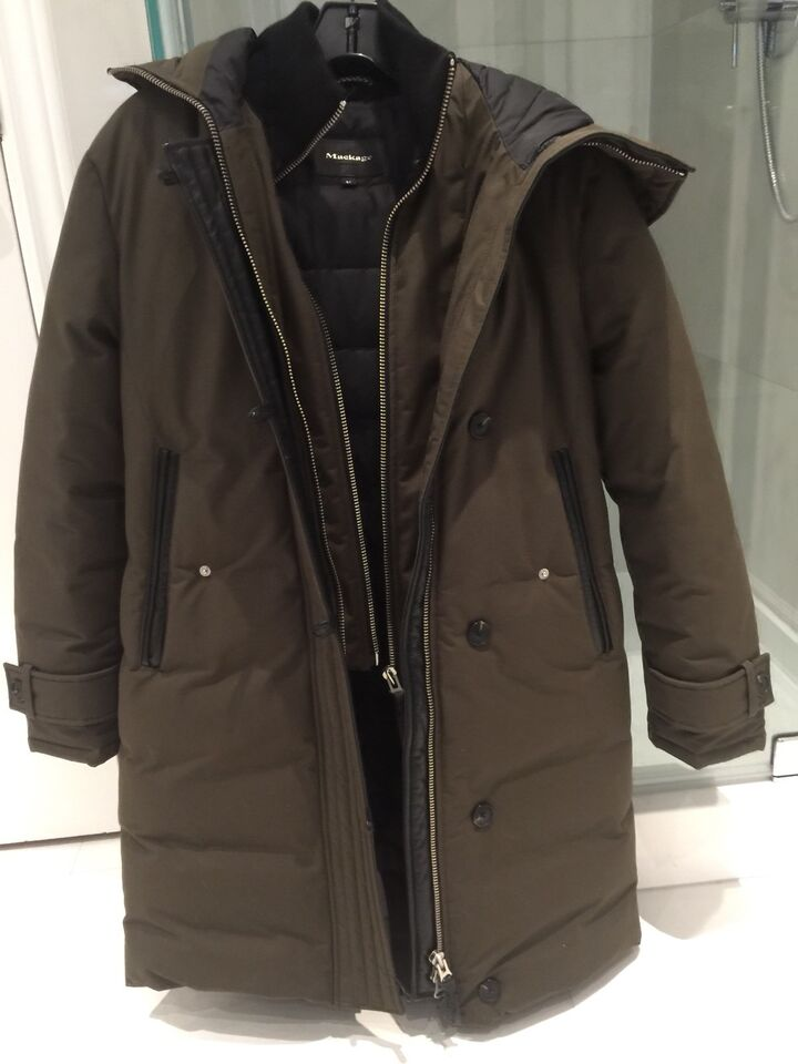 Mackage Womens Tristin Lux Light Weight Down Jacket with Asymmetrical Zip