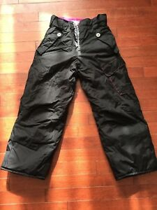 Girls black snow pants size small $5