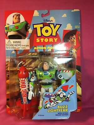 1995 TOY STORY BUZZ LIGHTYEAR ROCKET ACTION FIGURE THINKWAY TOY MINT CONDITION!