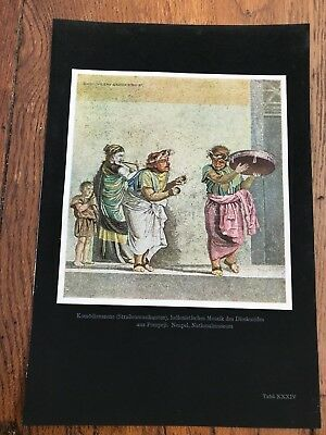 """1927 tipped in colour plate from """" die kunst der antike """" hellas undrom . ref 4"""