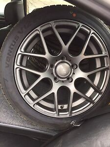 2 sets of BMW rims 5x120 (summer and winter tires)