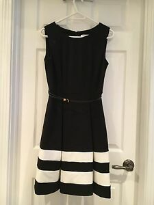 Calvin Klein black and white dress
