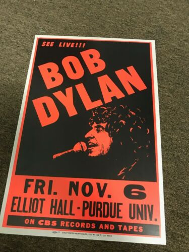 "Bob Dylan 1981 Purdue University Cardstock Concert Poster 12"" x 18"""