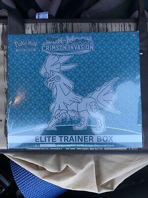 Pokemon TCG Sun & Moon Crimson Invasion Elite Trainer Box NEW Factory Sealed CNY