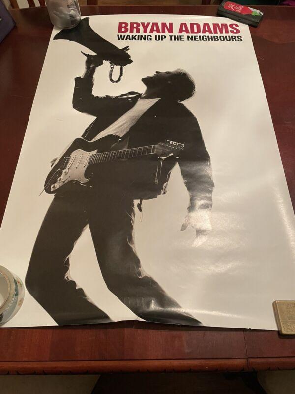 Vintage Bryan Adams Waking Up The Neigbors Poster