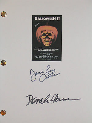 Halloween II 2 Signed Movie Script Jamie Lee Curtis Donald Pleasence reprint