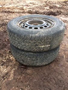 Two tires 205/70r15 lots of tread text 902 222-5775
