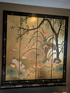 Chinese beautiful Wooden lacquer screen/room divide Bentleigh East Glen Eira Area Preview