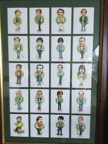 Caricatures Of All The Snooker Greats!
