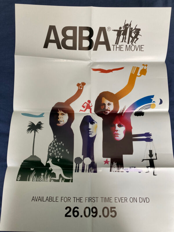 Abba Rare Abba The Movie DVD Release Fold Out Promo Poster